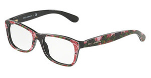 Dolce & Gabbana DG3231 3127 PRINT ROSE ON BLACK
