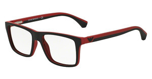 Emporio Armani EA3034 5324 BLACK/RED RUBBER