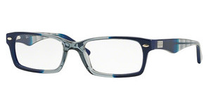 Ray-Ban RX5206 5516 GRADIENT GREY ON BLUE