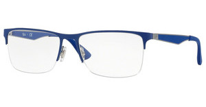 Ray-Ban RX6335 2889 GUNMETAL ON TOP ELECCRTIC BLUE