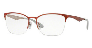 Ray-Ban RX6345 2921 SILVER TOP RED