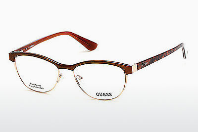 очила Guess GU2523 048 - кафяви, Dark, Shiny