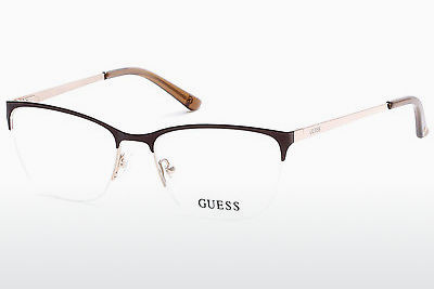 очила Guess GU2543 045 - кафяви, Bright, Shiny
