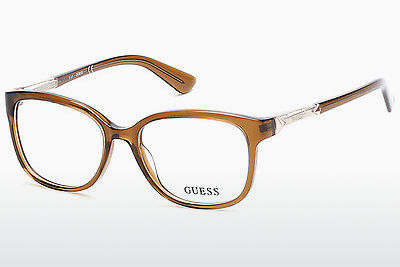 очила Guess GU2560 045 - кафяви, Bright, Shiny