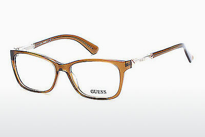 очила Guess GU2561 045 - кафяви, Bright, Shiny