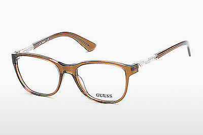очила Guess GU2562 045 - кафяви, Bright, Shiny