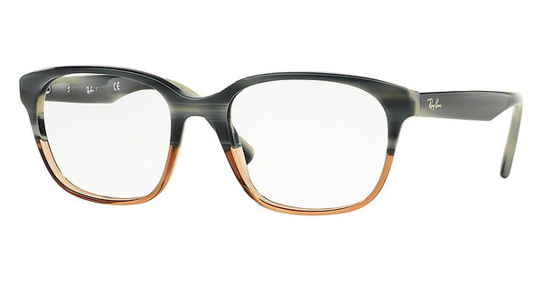 Ray-Ban RX5340 5543 BLUE HORN GRAD TRASP BROWN