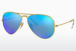 слънчеви очила Ray-Ban AVIATOR LARGE METAL (RB3025 112/4L) - златисти