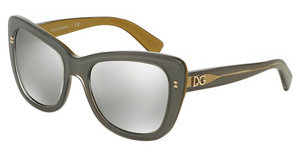 Dolce & Gabbana DG4260 29596G LIGHT GREY MIRROR SILVERTOP GREY ON GOLD