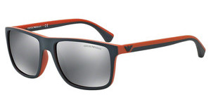 Emporio Armani EA4033 52336G LIGHT GREY MIRROR BLACKGREY/RUBBER ORANGE