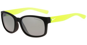 Nike NIKE SPIRIT EV0886 001 MATTE BLACK / VOLT WITH GREY W/SILVER FLASH LENS LENS