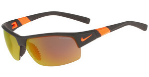 Nike SHOW X2 R EV0822 208 MATTE DEEP PEWTER/TOTAL ORANGE/SHATTER WITH GREY W/ ML ORANGE FLASH LENS/GREY LENS LENS