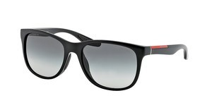 Prada Sport PS 03OS 1BO3M1 GRAY GRADIENTBLACK DEMI SHINY