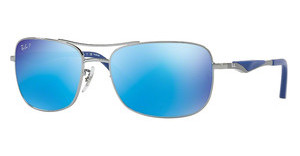 Ray-Ban RB3515 004/9R GREEN MIRROR BLUE POLARGUNMETAL