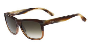 Salvatore Ferragamo SF686S 217 BROWN-COGNAC HORN