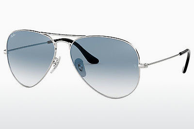 слънчеви очила Ray-Ban AVIATOR LARGE METAL (RB3025 003/3F) - сребристи