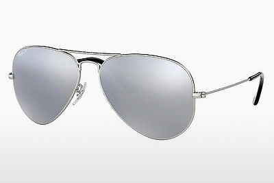 слънчеви очила Ray-Ban AVIATOR LARGE METAL (RB3025 019/W3) - сребристи