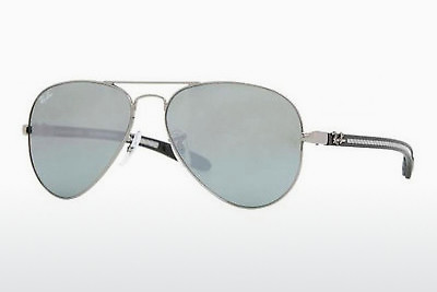слънчеви очила Ray-Ban AVIATOR TM CARBON FIBRE (RB8307 004/40) - сребристи