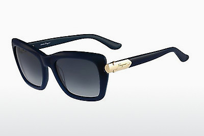 слънчеви очила Salvatore Ferragamo SF763S 416 - зелени, Dark, Blue