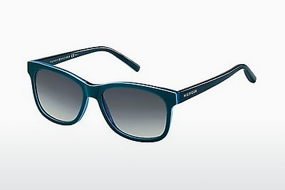 слънчеви очила Tommy Hilfiger TH 1985 UCT/HD - зелени, Teal