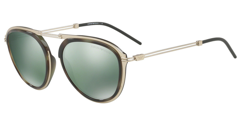Emporio Armani   EA2056 30026R LIGHT GREEN MIRROR PETROLMT PALE GOLD/GREEN HAVANA