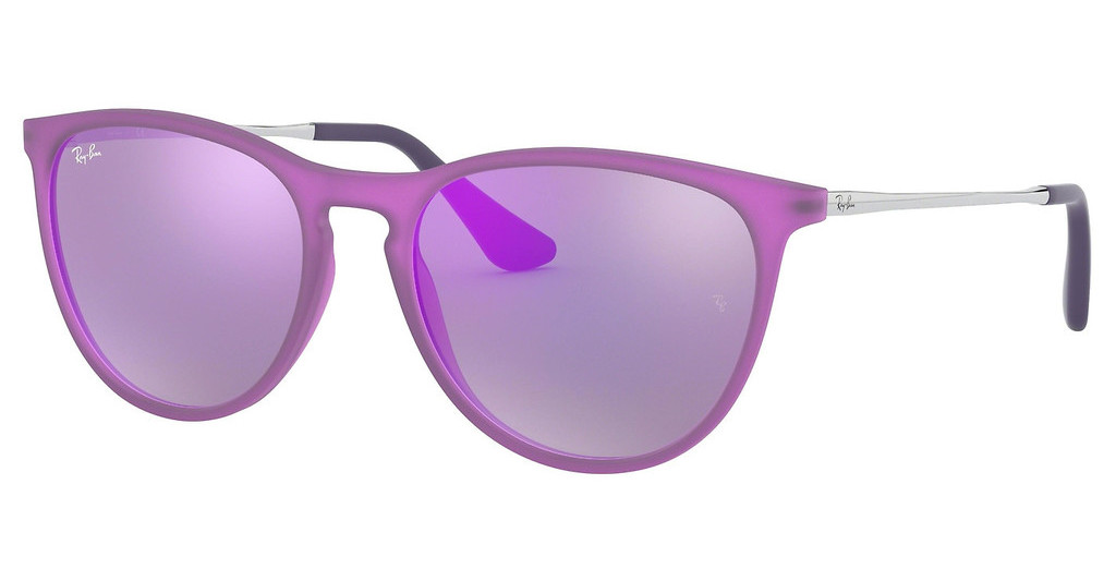 Ray-Ban Junior   RJ9060S 70084V GREY MIRROR VIOLETVIOLET FLUO TRASP RUBBER