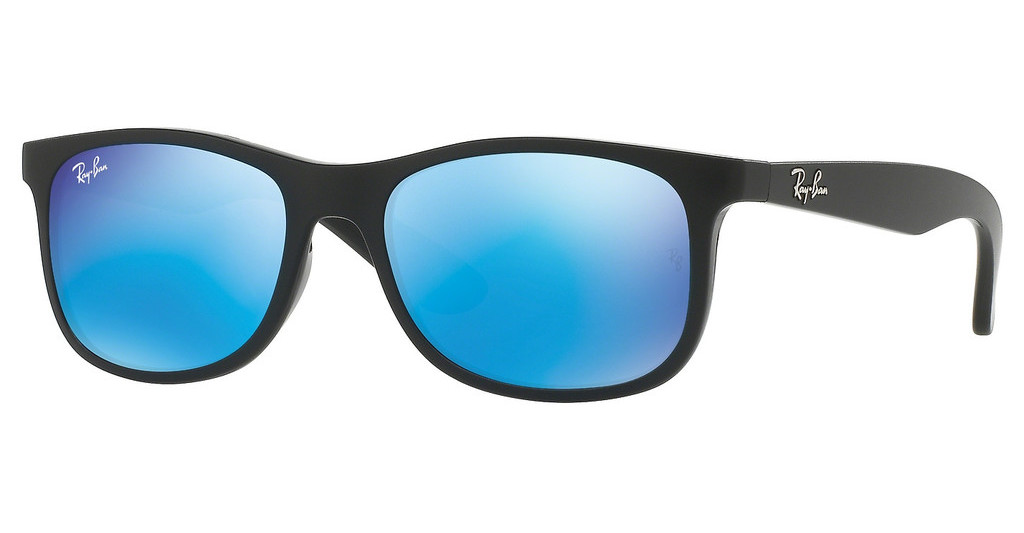 Ray-Ban Junior   RJ9062S 701355 FLASH BLUEMATTE BLACK ON BLACK