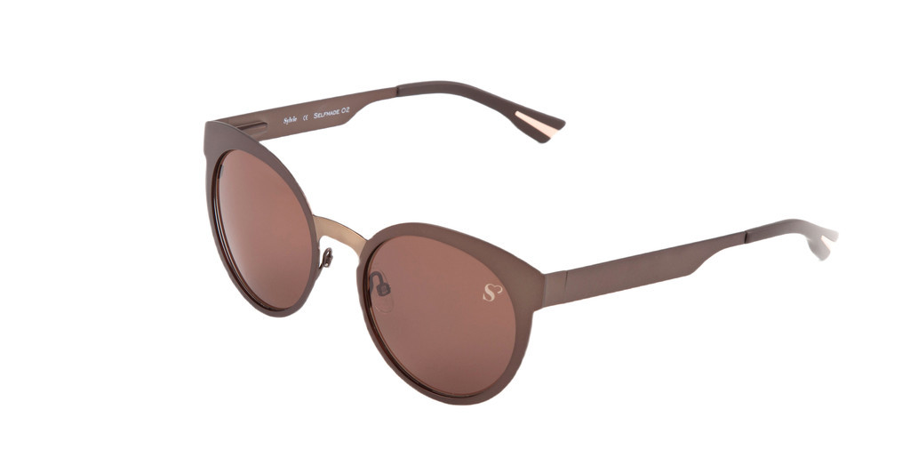 Sylvie Optics   Selfmade 2 dark brown matt