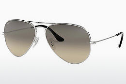 слънчеви очила Ray-Ban AVIATOR LARGE METAL (RB3025 003/32) - сребристи