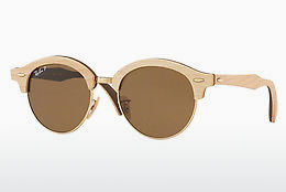 слънчеви очила Ray-Ban Clubround Wood (RB4246M 117957) - златисти