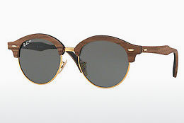 слънчеви очила Ray-Ban Clubround Wood (RB4246M 118158) - златисти