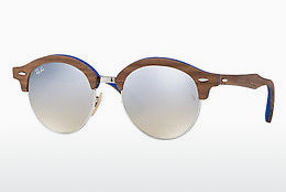 слънчеви очила Ray-Ban Clubround Wood (RB4246M 12179U) - сребристи