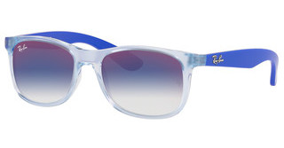 Ray-Ban Junior RJ9062S 7051X0 BLUE MIRROR REDTRASPARENT LIGHT BLUE