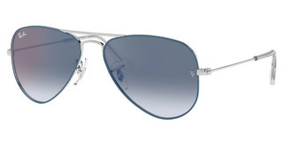 Ray-Ban Junior RJ9506S 276/X0 BLUE MIRROR REDSILVER ON TOP LIGHT BLUE