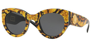 Versace VE4353 528387 GREYBAROQUE YELLOW/BLACK